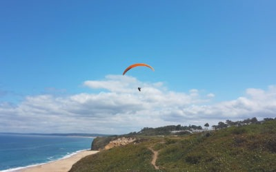Paragliding Portugal takes you flying over Costa da Caparica